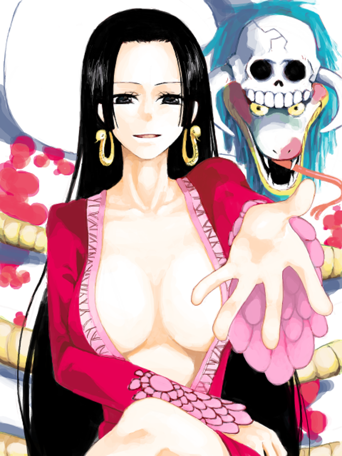 Toon sex pic ##00013061782 boa hancock breasts cleavage highres long hair looking at viewer one piece salome (one piece) snake