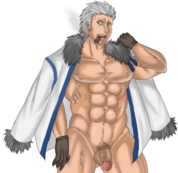 Toon sex pic ##000130107282 1boy abs bottomless censored cigar circumsized flaccid gloves male male only muscle one piece open clothes open coat open shirt penis smoker smoker (one piece) smoking solo standing white hair