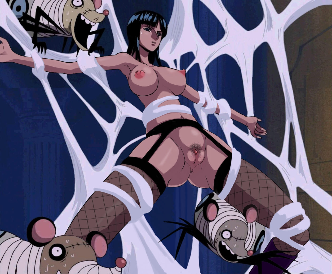 Toon sex pic ##000130104532 anus bondage breasts cap clitoris functionally nude nico robin nipples nude filter one piece photoshop pubic hair pussy screencap spider mice spider web uncensored