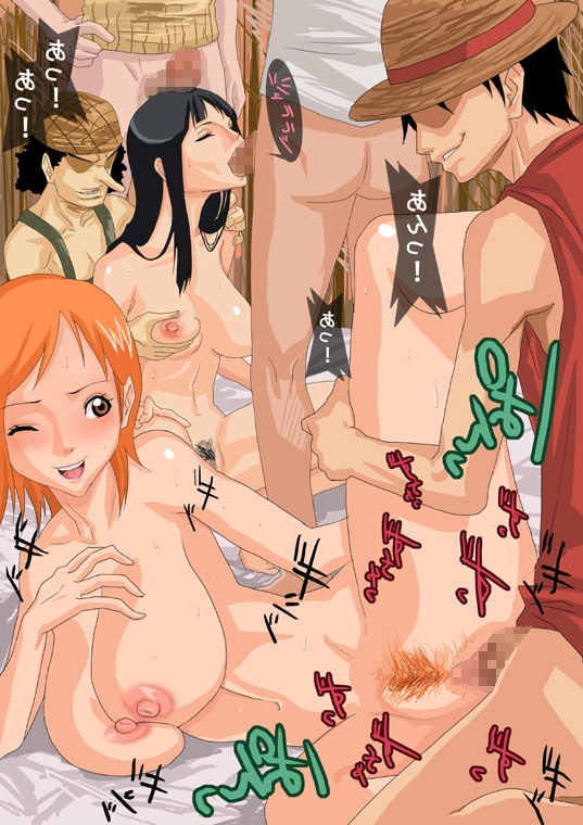 Toon sex pic ##00013089447 arm support bandana bandana black hair blush breast grab breasts censored closed eyess eyess closed fellatio gangbang group sex gujira happy sex hat kneeling large breasts leg lift long hair lying monkey d luffy nami nico robin nude on side one piece oral orange eyess orange hair orgy penis pubic hair roronoa zoro sanji sex short hair smile spread legs squatting straw hat sweat usopp vaginal penetration vaginal penetration wink