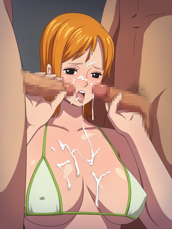 Toon sex pic ##00013083817 bikini bikini top black eyess blush breasts censored cfnm clothed female nude male cum cum in mouth cum on body cum on breasts cum on hair cum on tongue cum on upper body cumdrip erect nipples facial fellatio hako yashiki handjob huge breasts nami one piece open mouth oral orange hair penis pubic hair short hair solo swimsuit tongue