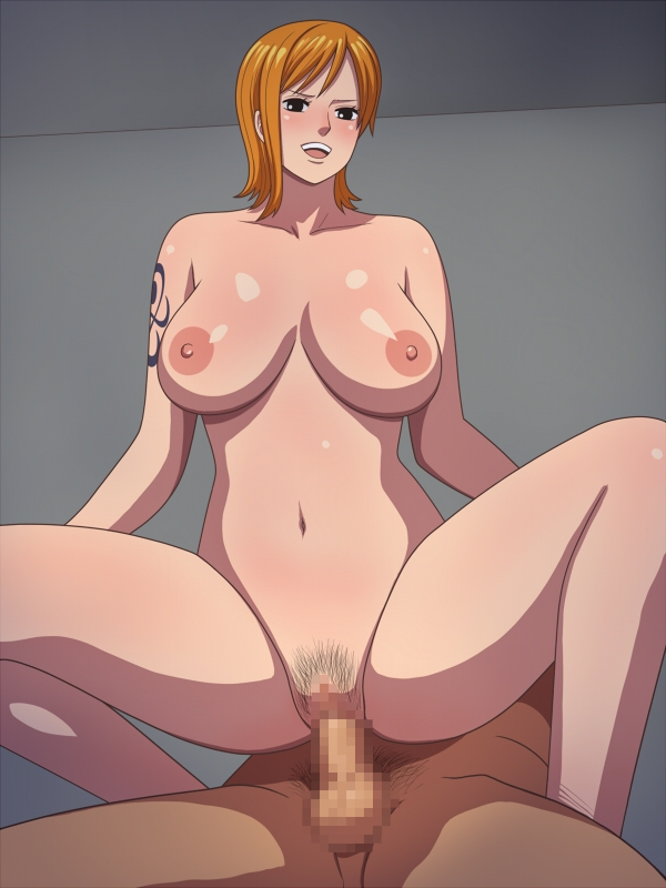 Toon sex pic ##00013083811 female black eyess blush breasts censored cowgirl position hako yashiki huge breasts nami nipples nude one piece orange hair penis pubic hair pussy reverse cowgirl reverse cowgirl position sex short hair solo spread legs squatting straddle tattoo testicles vaginal penetration vaginal penetration