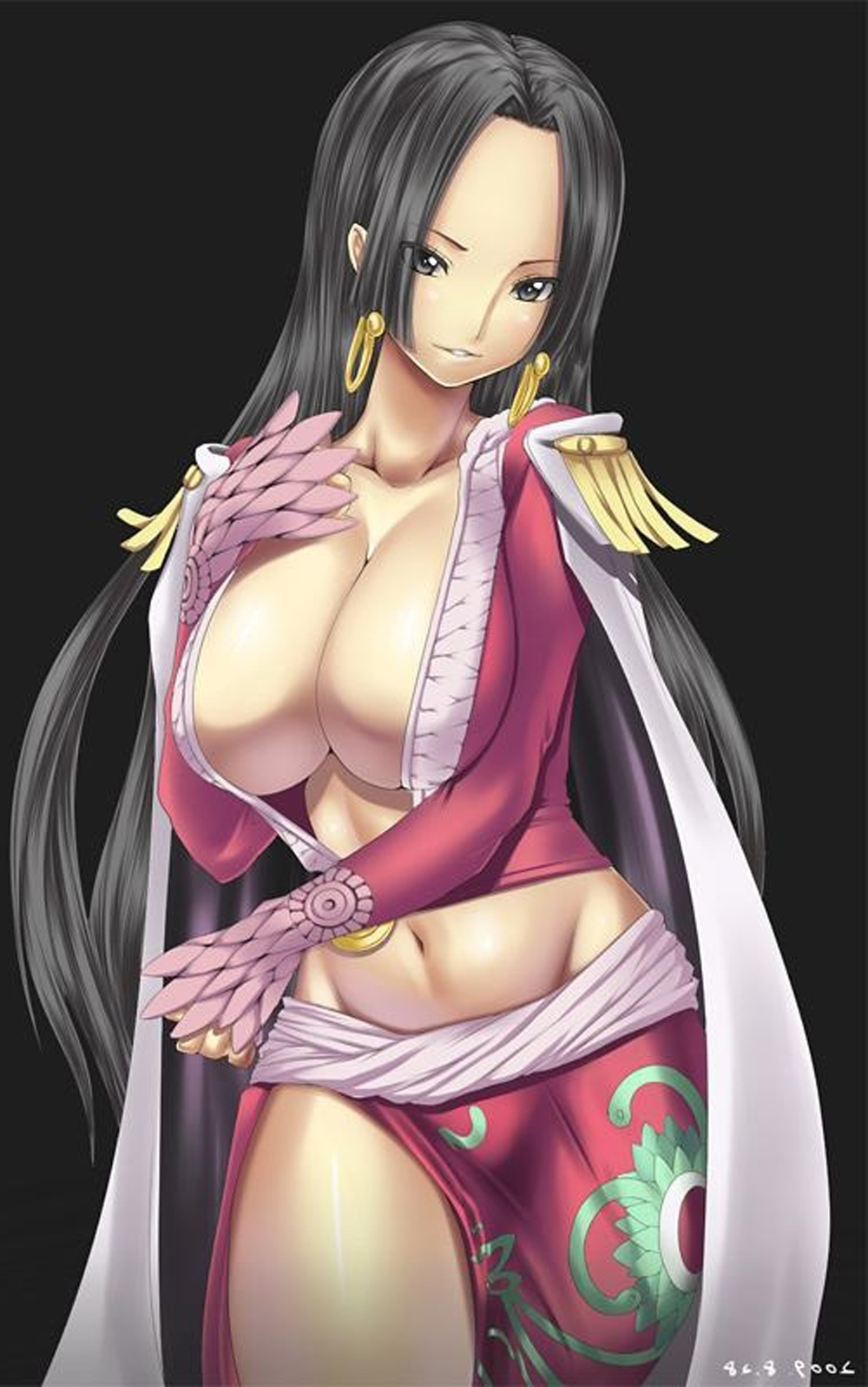 Toon sex pic ##00013062113 boa hancock breasts cleavage compression artifacts earrings highres huge breasts jewelry midriff one piece resized