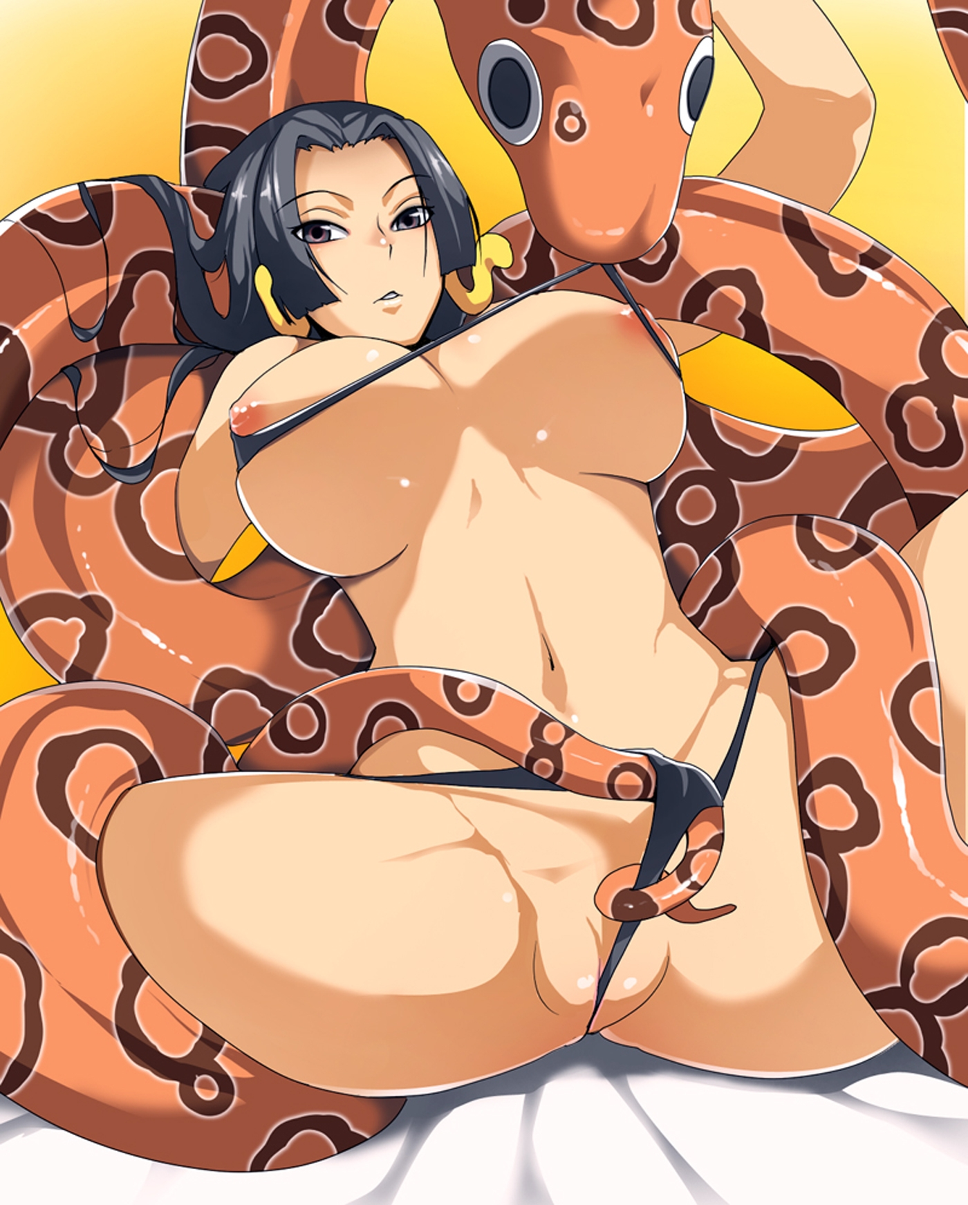 Toon sex pic ##00013061821 bikini black hair boa hancock breasts female grey eyes high resolution huge breasts kosame daizu long hair navel nipples one piece pussy resized snake spread legs swimsuit uncensored wedgie