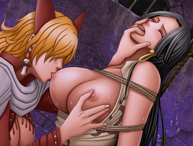 Toon sex pic ##00013059743 bondage boa hancock bondage breasts crimson comics dungeon long hair nipples one piece rape sadi-chan yuri