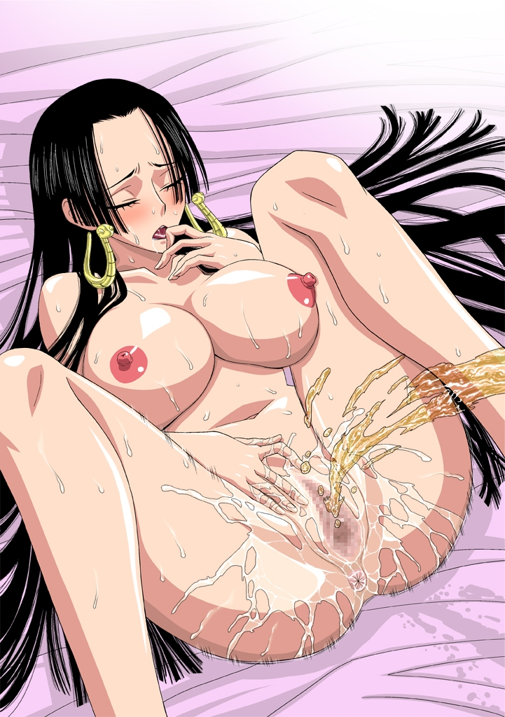 Toon sex pic ##00013059716 anus ass bb black hair boa hancock breasts censored closed eyes eyes closed finger to mouth hand on crotch large breasts leg lift long hair nel-zel formula nipples one piece open mouth peeing pussy pussy juice shaved pussy spread legs sweat urine very long hair