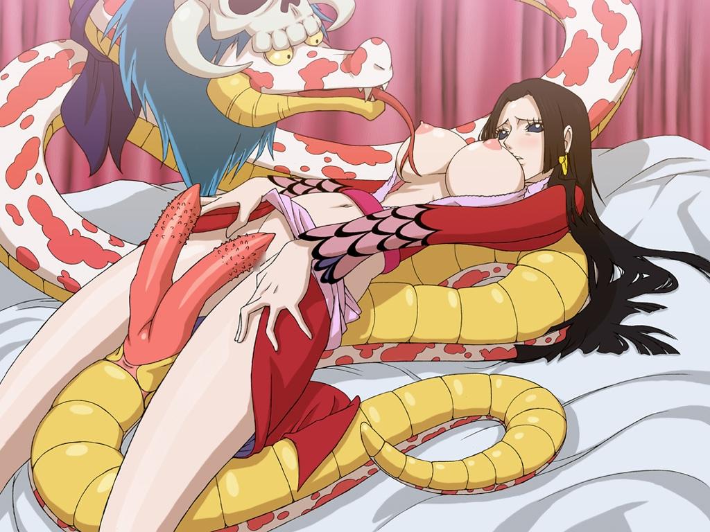 Toon sex pic ##00013059707 zoofilia boa hancock breasts long hair nipples one piece salome salome (one piece) snake zooerastia zoofilia