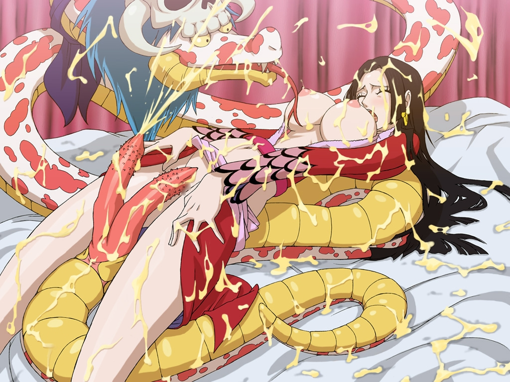 Toon sex pic ##00013059706 zoofilia boa hancock breasts cum long hair nipples one piece one piece snake salome salome (one piece) snake zooerastia zoofilia