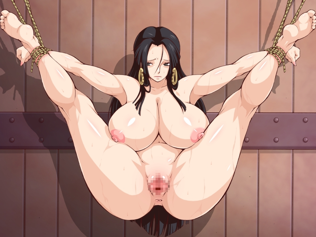 Toon sex pic ##00013059580 anus armpits ass bondage black hair blue eyess boa hancock bondage breasts censored legs up long hair merry program nipples nude one piece pussy very long hair