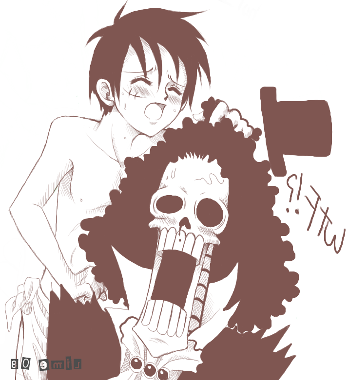 Toon sex pic ##000130279766 brook monkey d. luffy one piece yaoi