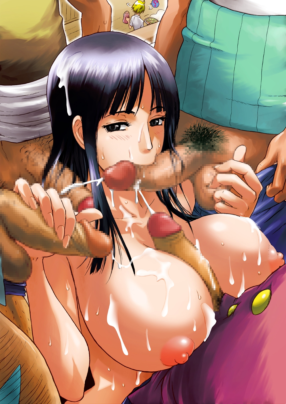 Toon sex pic ##00013046582 ball caress ballcaress big breasts black hair breasts bukkake caressing testicles censored cum double handjob ejaculation fellatio foreskin franky gangbang group sex handjob highres huge breasts konkitto monkey d luffy multiple penises nico robin nipples one piece oral orgy paizuri penis roronoa zoro sanji sex usopp