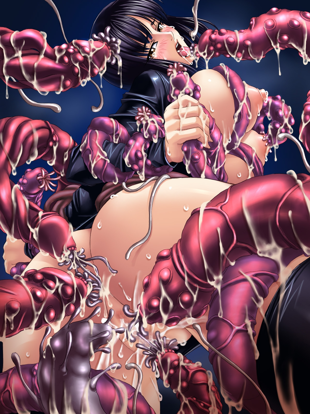 Toon sex pic ##00013047566 ass blush breasts censored cum double handjob fellatio gangbang group sex handjob highres huge breasts kagami monster multiple penises nico robin nipples one piece open clothes open shirt oral penis pussy rape shirt sweat tear tentacle tongue