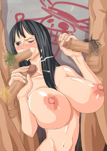 Toon sex pic ##00013015800 1girl big nipples black hair blush breasts censored cheek bulge cum cum in mouth double handjob ejaculation fellatio gangbang graffiti group sex gujira handjob huge breasts large nipples long hair monkey d luffy multiple penises nico robin nipples nude one piece oral penis pubic hair roronoa zoro sanji straight wince