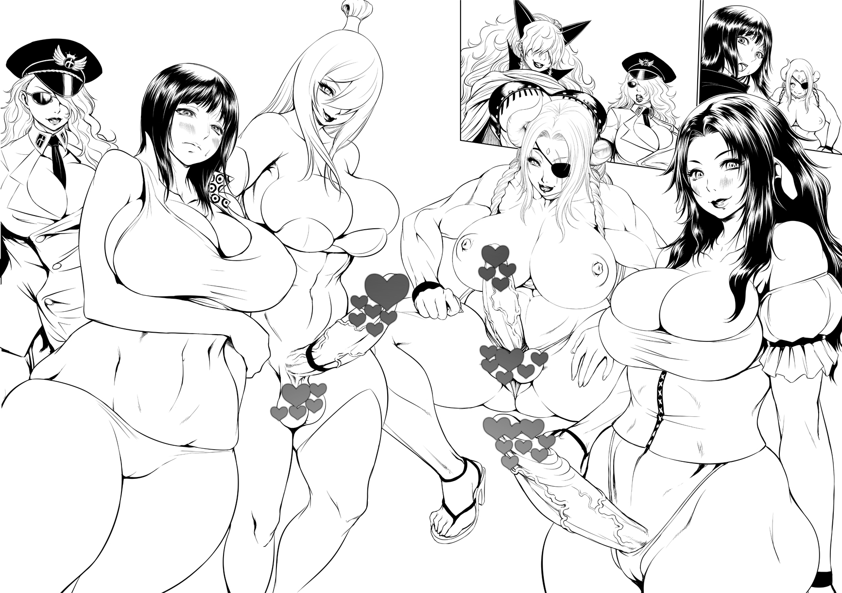 Toon sex pic ##0001309599 bikini black hair breasts cameltoe censored chinbotsu cleavage curvy domino domino (one piece) eyepatch full-package futanari futanari hat high heels highres hips huge breasts long hair mei terumi mizukage monochrome muscle naruto nico robin nipples novelty censor one-eyed one piece panties peaked cap penis pointless censoring sadi-chan sandals scar shoes short hair solo swimsuit terumi mei testicles thick thighs thighs thong tsunade underwear veins veiny penis wide hips yuuhi kurenai
