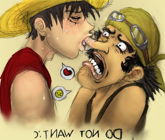 Toon sex pic ##000130243339 male monkey d. luffy one piece usopp yaoi
