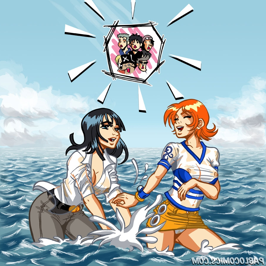 Toon sex pic ##000130202552 clothes color day female male multiple females multiple males nami nico robin one piece outdoors pablo comics tagme water wet