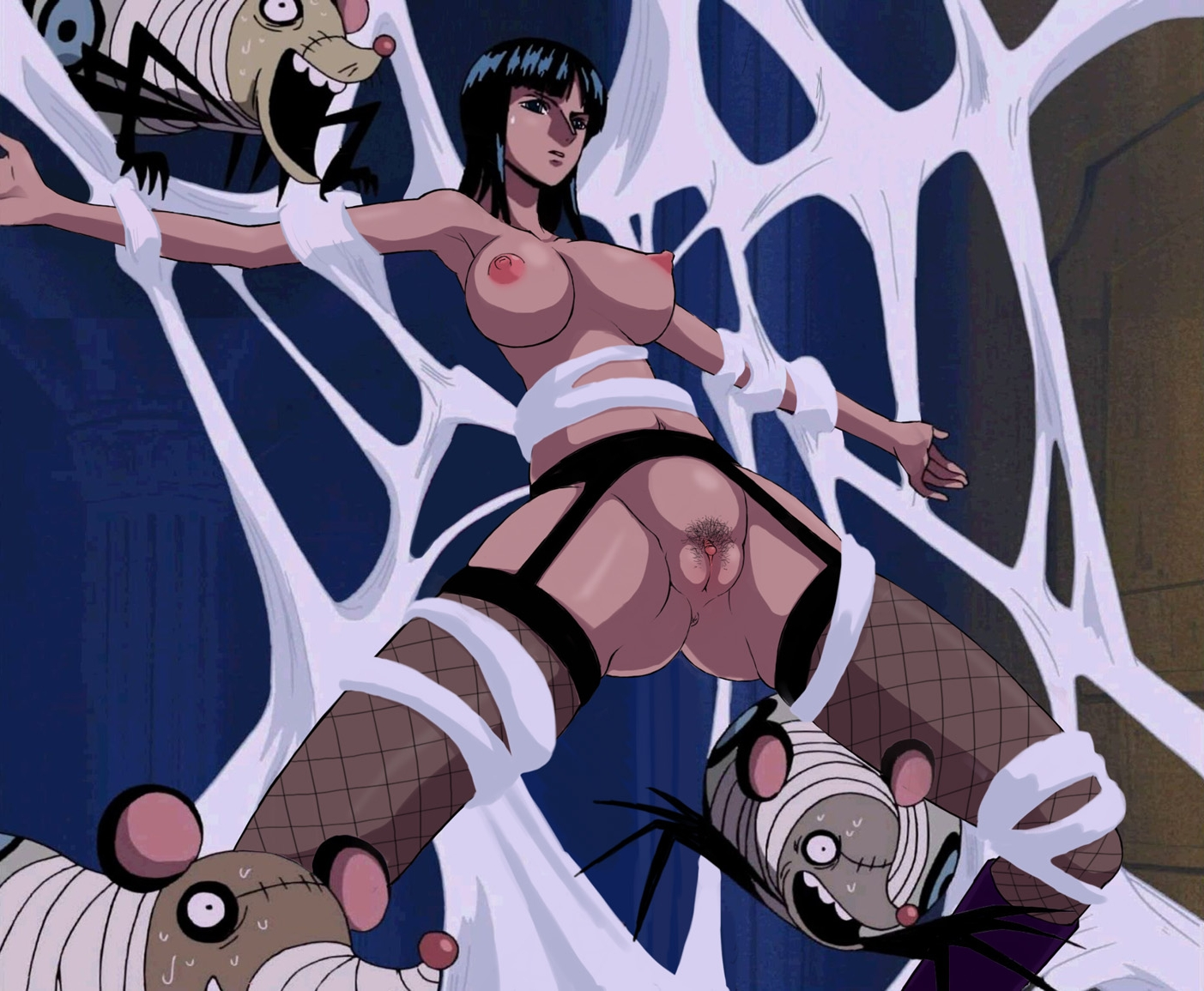 Toon sex pic ##000130147471 bondage nico robin nude nude filter one piece photoshop screenshot thighhighs