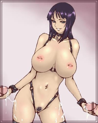 Toon sex pic ##000130121953 bondage bondage breasts cum handjob inomaru lowres nico robin nipple piercing nipples nude one piece penis piercing smile