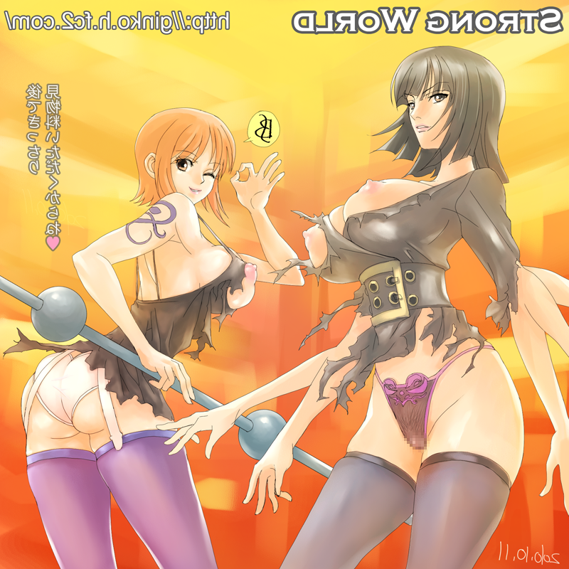 Toon sex pic ##000130329032 belt breasts censored clima-tact clima tact erect nipples extra arms ginko (artist) ginko (silver fox) hana hana no mi heart large breasts looking back multiple arms nami nico robin nipples ok sign one piece one piece: strong world one piece:strong world panties pubic hair puffy nipples pussy see-through smile tattoo thighhighs torn clothes translation request underwear watermark web address wink