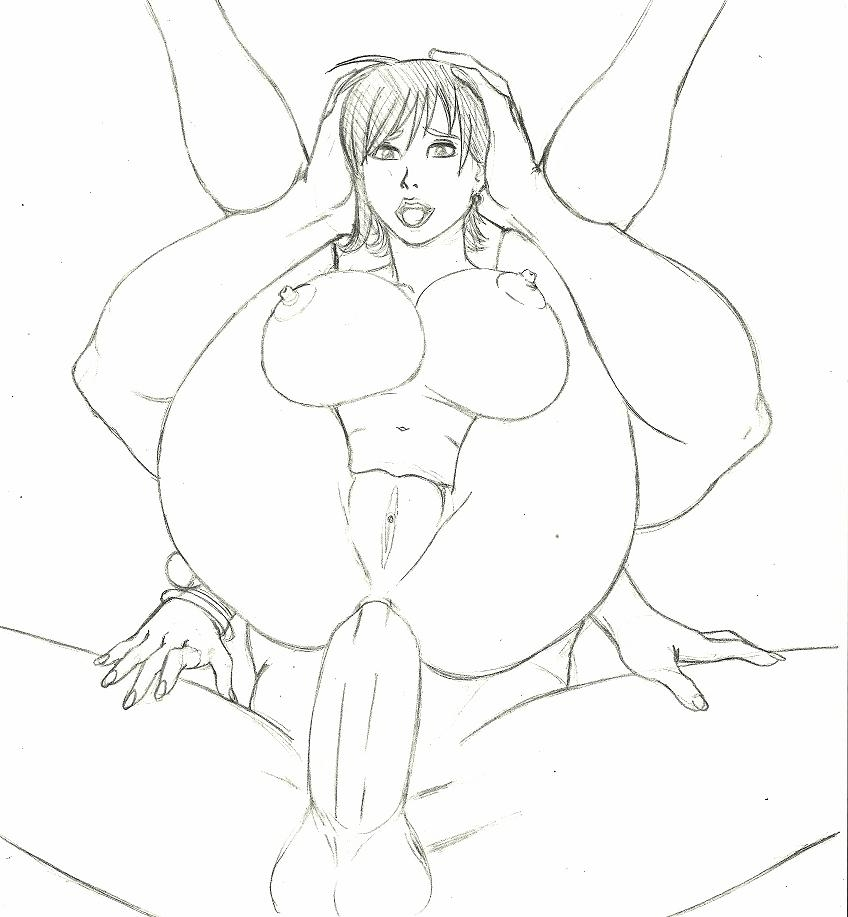 Toon sex pic ##0001301294422 anal breasts carrying fafnir the dragon female front view insertion large breasts large penis male monochrome nami nipples nude one piece penis pussy raised legs sex sketch straight vulva