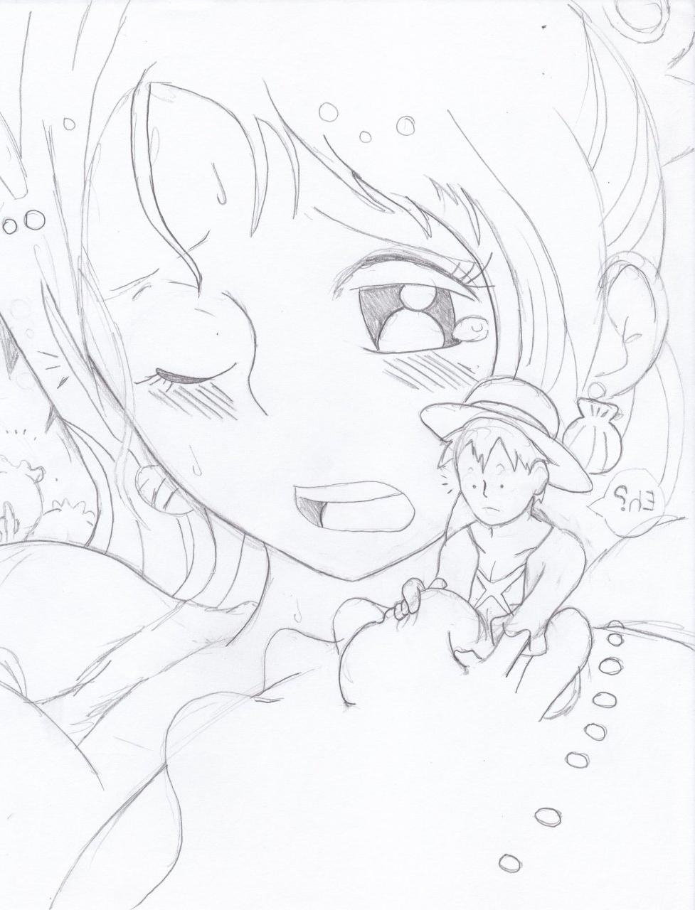 Toon sex pic ##0001301133256 female monkey d. luffy one piece poorly drawn shirahoshi sketch