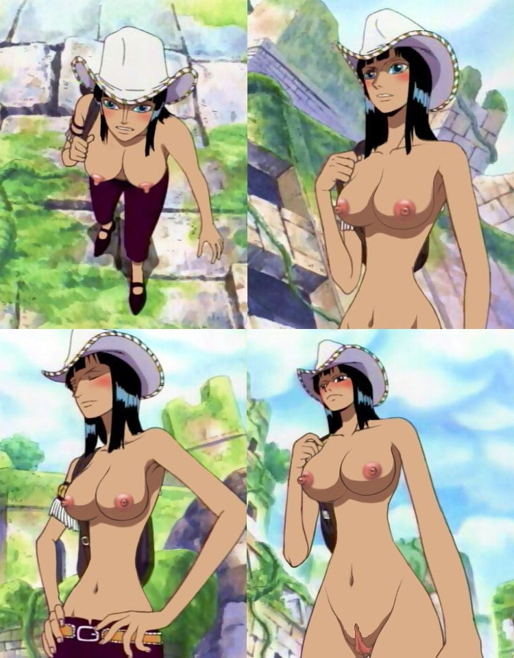Toon sex pic ##0001301126458 female blush breasts nico robin nipples nude nude filter one piece photoshop pussy screencap