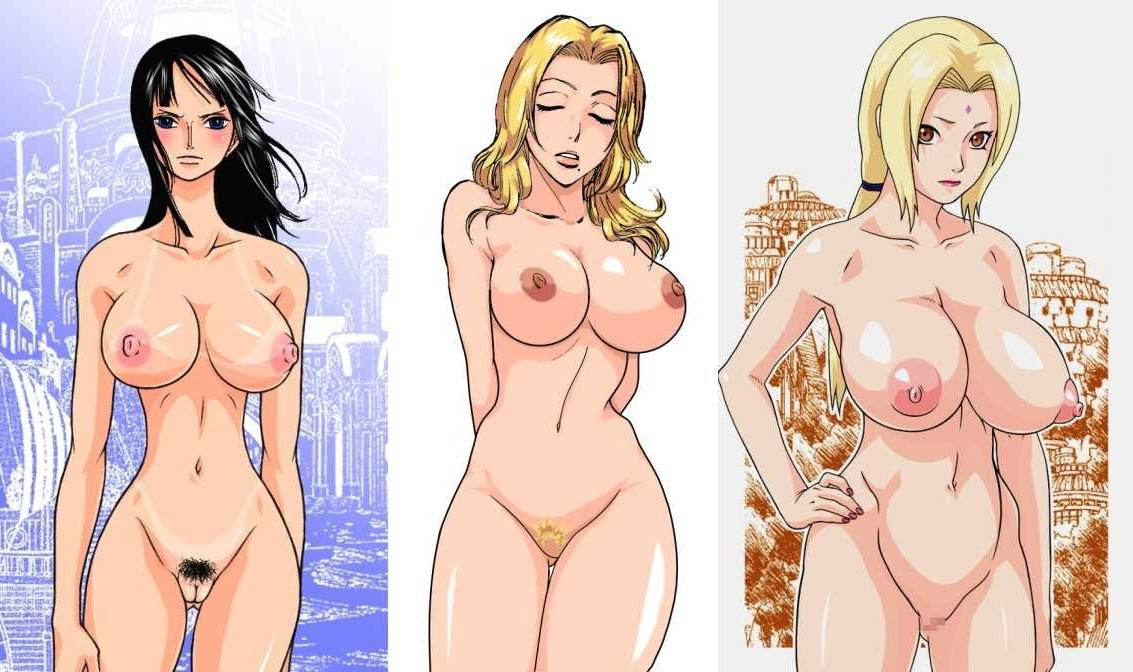 Toon sex pic ##0001301126440 bleach crossover naruto nico robin one piece matsumoto rangiku tsunade
