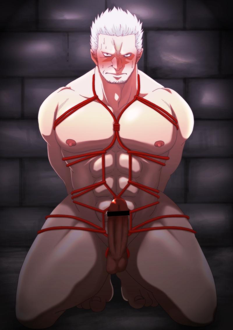 Toon sex pic ##0001301075273 bondage male one piece shibari smoker solo solo male tagme yaoi