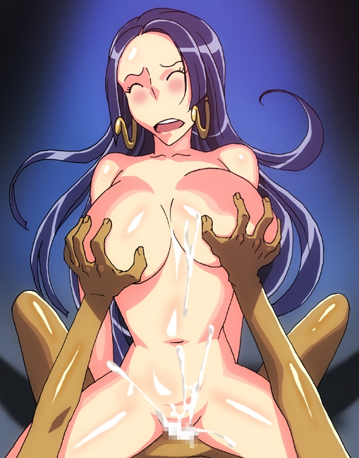 Toon sex pic ##000130992140 blue hair blush boa hancock breast grab breasts censored cowgirl position cum cum inside earrings ejaculation eyess closed cowgirl position ichijiku large breasts long hair lowres one piece open mouth penis sex vaginal penetration