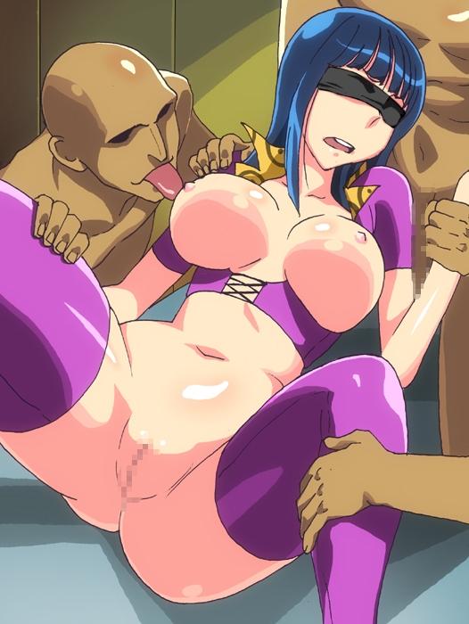 Toon sex pic ##000130992127 blindfold blue hair breasts censored gangbang ichijiku large breasts nico robin one piece spread legs