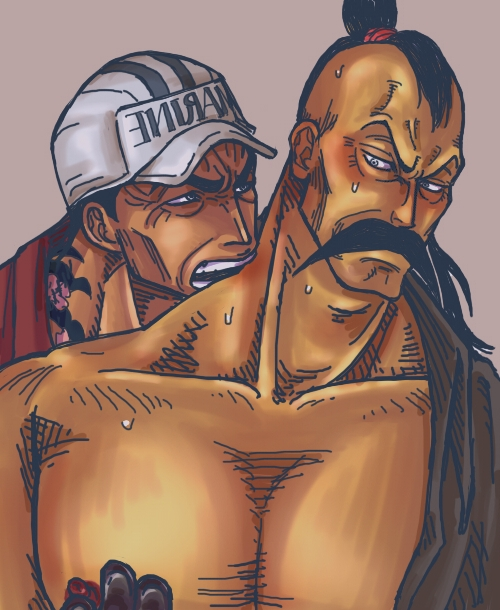 Toon sex pic ##000130904810 2boys akainu baseball cap gay male male only marine momonga one piece open shirt tagme yaoi