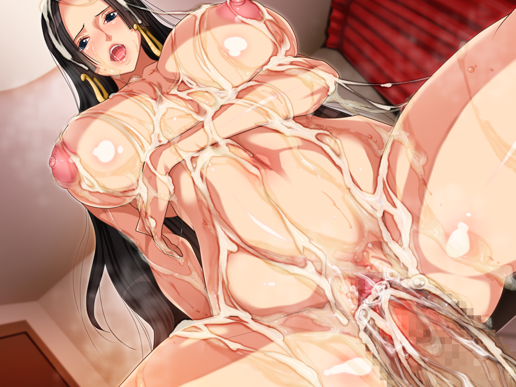 Toon sex pic ##0001301260491 areolae black hair boa hancock breasts bukkake censored cum cum in pussy cum on ass cum on body cum on breasts cum on hair cum on lower body earrings facial g kilo-byte huge breasts jewelry long hair nude one piece penis pussy saberfish spread legs sweat vaginal penetration vaginal penetration
