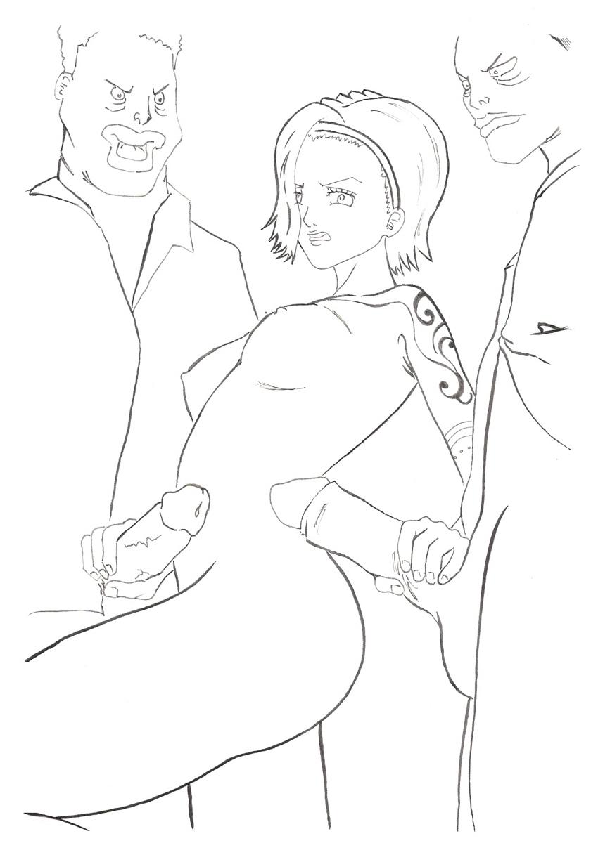 Toon sex pic ##000130852147 breasts huge breasts masturbating nipples nojiko nude one piece one pieve oppai penis penis grab short hair tattoo tekoki