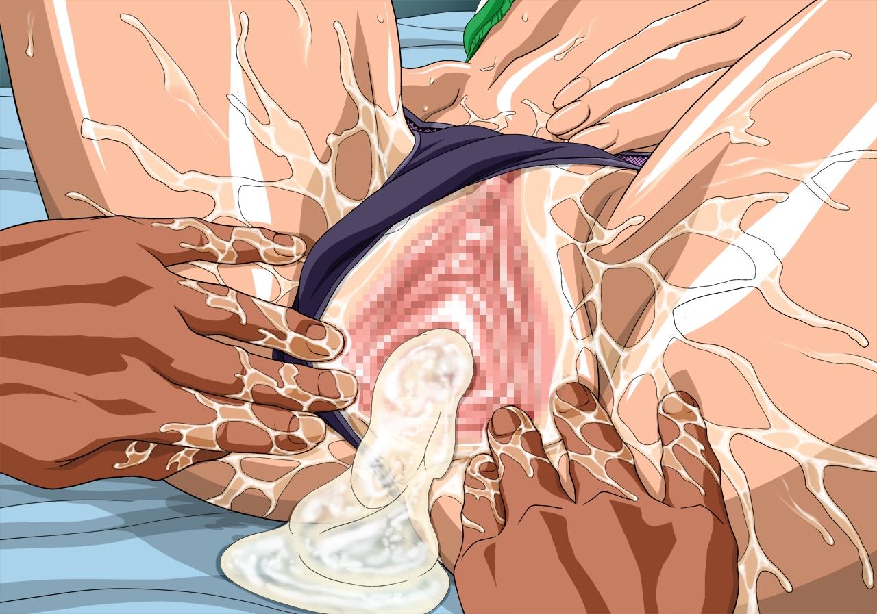 Toon sex pic ##000130815863 anus ass cum cum drip cum inside nel-zel formula nico robin one piece panties panties aside pussy pussy juice spread legs spread pussy