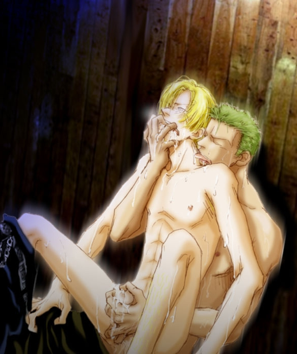 Toon sex pic ##000130704609 2boys anal anal sex blonde hair blonde hair gay green hair homosexual licking licking neck nude one peice one piece roronoa zoro sanji semen sex sweat two men uncensored yaoi