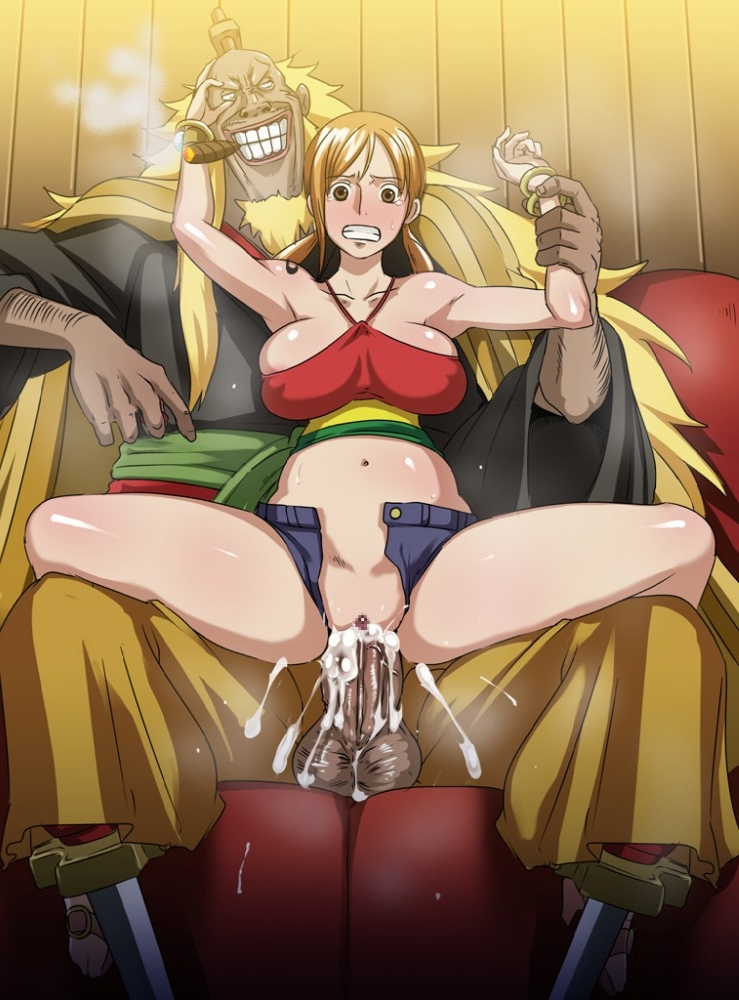Toon sex pic ##000130619593 backdoor style blush breasts cum cum inside ejaculation eroquis hotpants nami nipples one piece one piece film: strong world open hotpants rape sex shiki (one piece) shiki the golden lion spread legs twintails vaginal penetration
