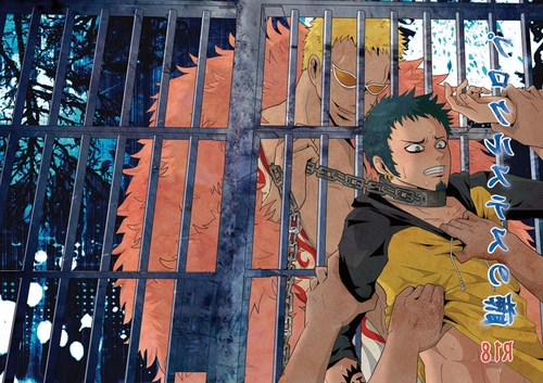 Toon sex pic ##0001301433009 2boys 6+boys blonde hair blue hair bondage bondage donquixote doflamingo gay group sex lowres male male only malesub multiple boys one piece prison prisoner raglan sleeves rape restrained slave trafalgar law undressing yaoi