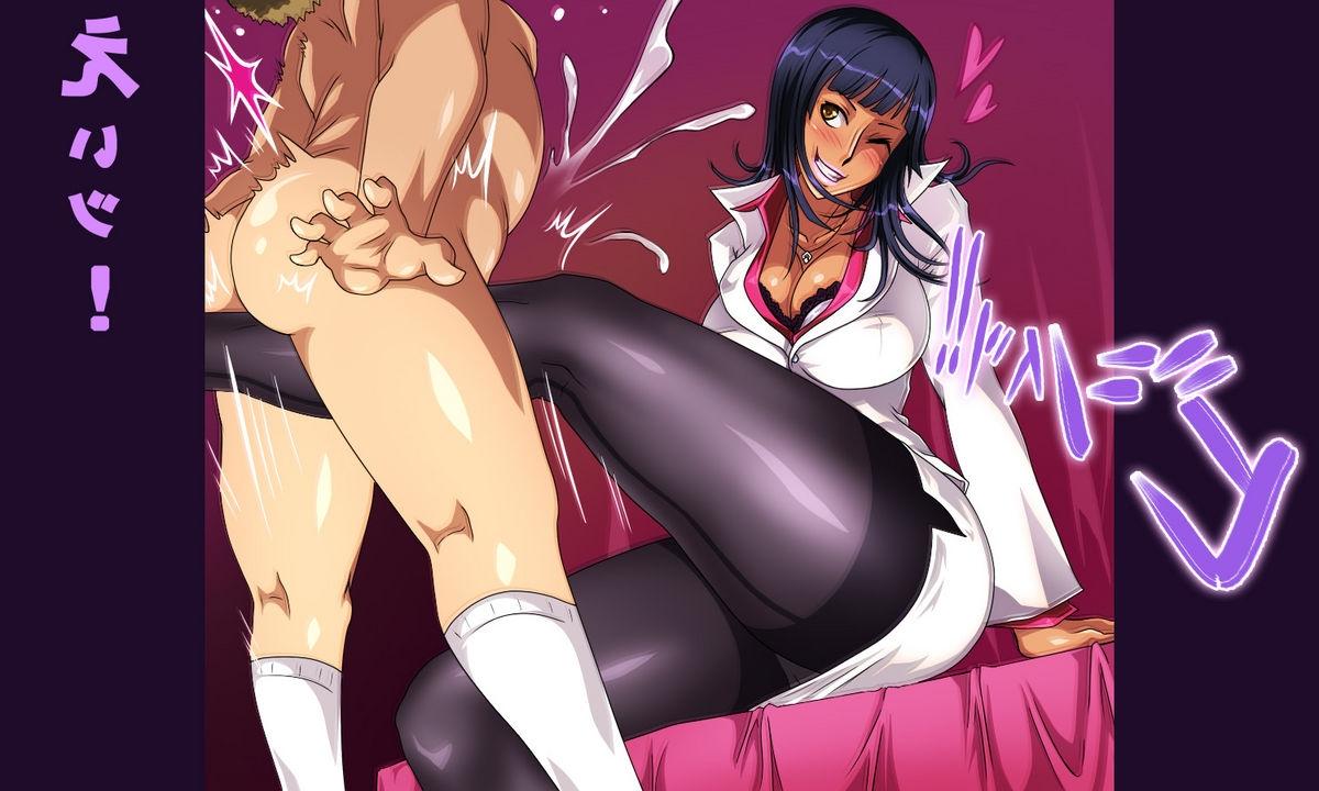 Toon sex pic ##000130543275 free style groin kick nico robin one piece pantyhose tamakeri testicles