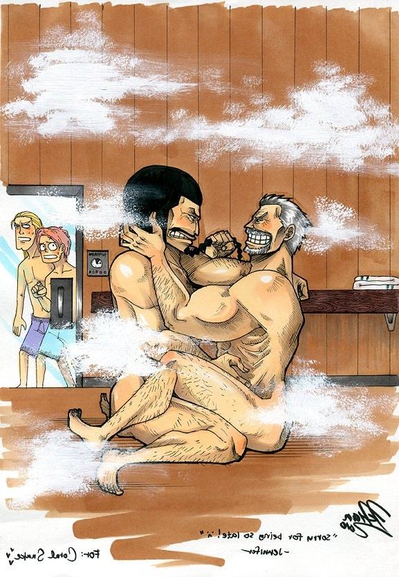 Toon sex pic ##000130499893 4boys garp helmeppo kobi koby male male only nude one piece sengoku yaoi
