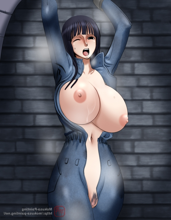 Toon sex pic ##000130498545 armpit arms up blush breasts brown eyes closed eyes dark-blue hair darkblue hair eyess closed functionally nude imminent rape mokusa nico robin nipples one piece open mouth open overall overall pubic hair pussy saliva slave standing wince
