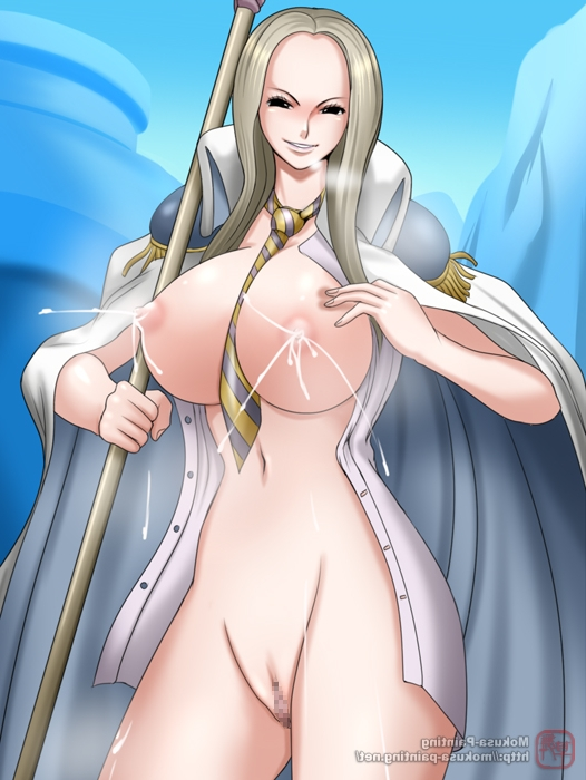 Toon sex pic ##000130498521 blush bottomless lactation breasts coat lactation mokusa nipples no bra no panties nude one piece open shirt pussy shirt smiling standing unnamed giantess (one piece) vice admiral