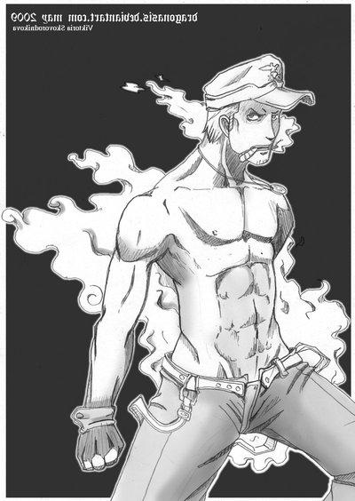 Toon sex pic ##000130448682 dragonasis one piece smoker yaoi