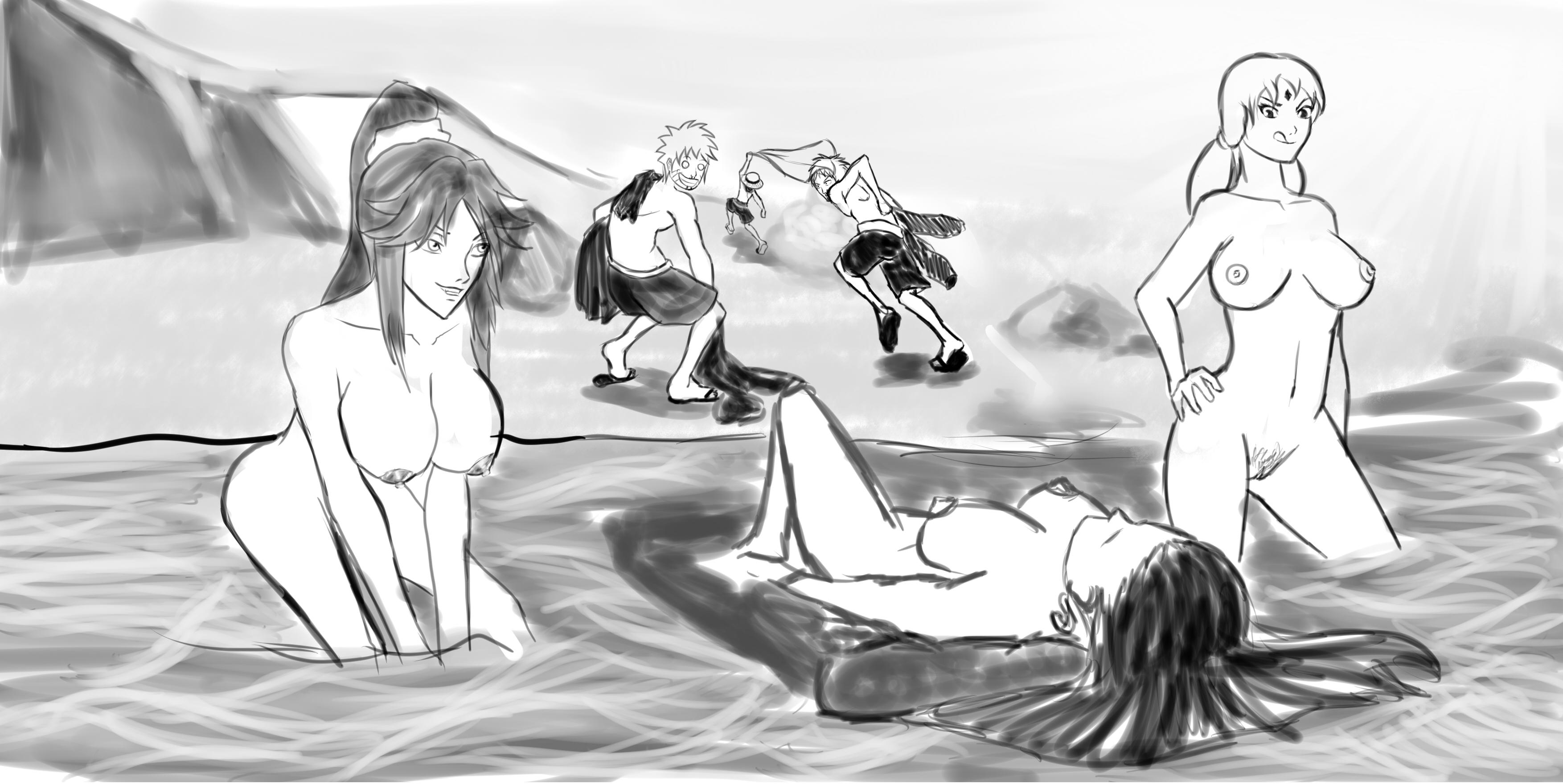 Toon sex pic ##0001301385869 bleach boa hancock crossover fuutonvesaka ichigo kurosaki monkey d. luffy naruto one piece shihouin yoruichi tsunade uzumaki naruto