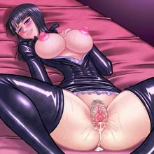 Toon sex pic ##000130120232 bed black clothes breasts breasts out censored cum cum inside cum pool cumpool drooling hanaduka hanazuka ryouji large breasts naughty face nico robin nipples one piece open clothes open shirt pubic hair puffy nipples spread legs thighhighs