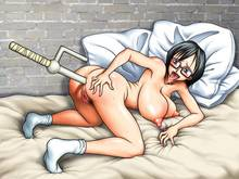 Toon sex pic ##000130113376 anal ass ass grab bed bed sheet black hair blush breasts censored drooling duplicate female footwear garou damenade glasses grey eyes insertion jitte jpeg artifacts kneeling large breasts looking back nipples nude one piece open mouth penetration pillow pubic hair puffy nipples pussy saliva sheets short hair socks solo sweat tashigi tongue top-down bottom-up weapon