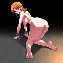 Toon sex pic ##00013091483 female all fours ariyon ass back bondage big ass blush bondage bound arms breasts cuffs feet from behind highres looking back nami nude one piece orange hair pussy shackles solo toes uncensored