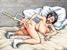 Toon sex pic ##00013088984 after sex anal ass ass grab bed bed sheet black hair blush breasts censored cum cum drip cum inside cum pool drooling female footwear garou damenade glasses glasses off glasses removed grey eyes insertion jitte kneeling large breasts looking back nipples nude one piece open mouth overflow penetration pillow pubic hair puffy nipples pussy saliva sheets short hair socks solo stick nipples sweat tashigi tongue top-down bottom-up weapon