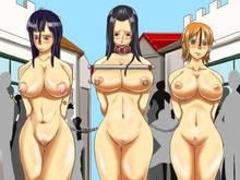 Toon sex pic ##00013077339 bit gag boa hancock bondage breasts censored gag humiliation kuro fn nami nico robin nipple piercing nipples nose hook nude one piece piercing public slave