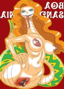 Toon sex pic ##00013067198 artist request big breasts blonde hair blue eyess boa sandersonia breasts labia large breasts monster girl one piece pussy tongue what