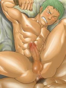 Toon sex pic ##00013063933 abs anal bondage censored gay green hair male male only mentaiko muscle muscles nude on back one piece penis pov roronoa zoro sex wince yaoi